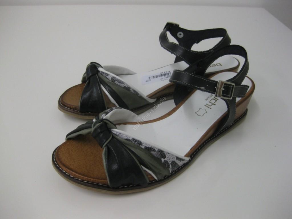 leichte Damensandalette in schwarz/weiß