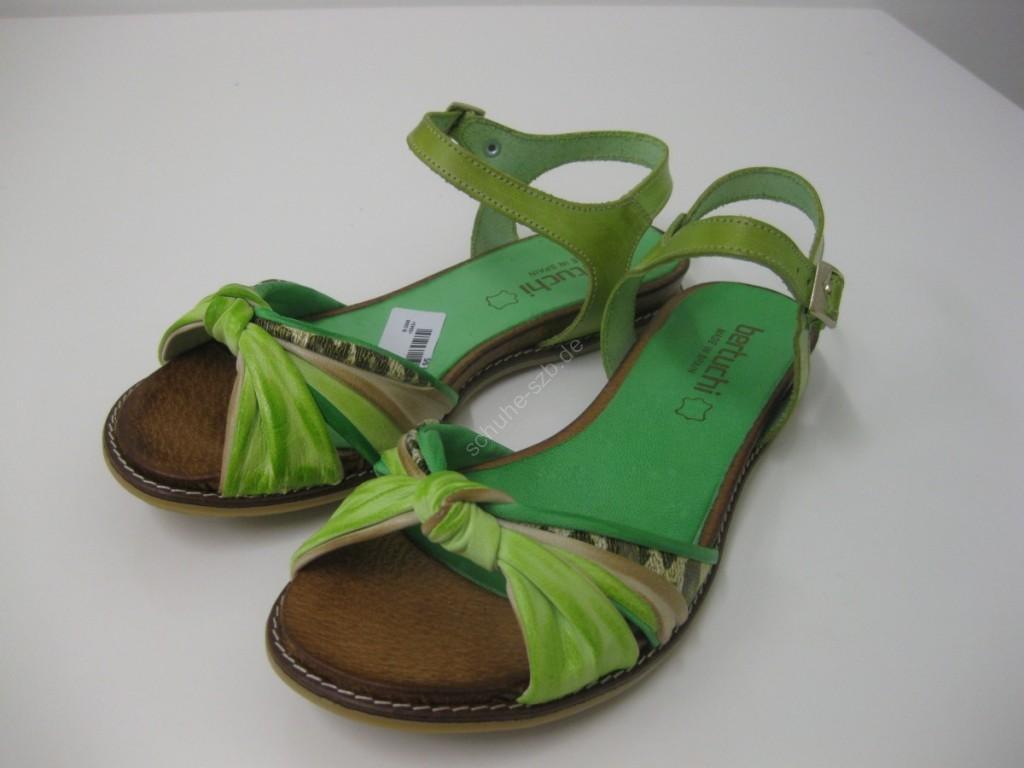 leichte Damensandalette in grün/gelb