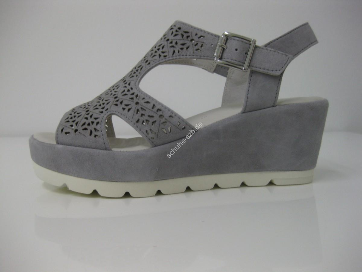Keilsandalette in taupe