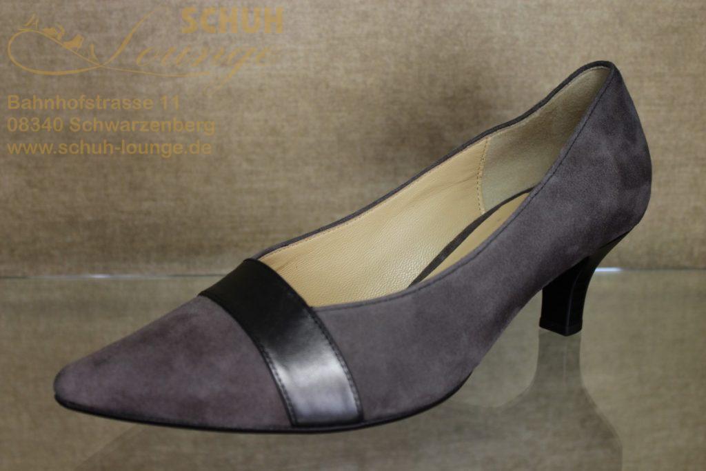 Dieser elegante Pumps in verschiedenen Farbnuancen und Lederarten ist ein Schuh wie man ihn aus dem Hause Gabor erwartet.