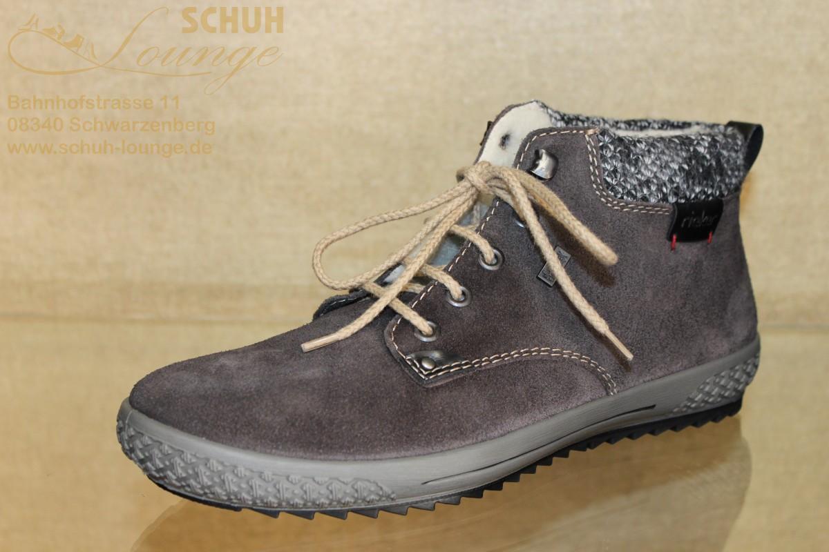 knöchelhoher TEX-Sneaker in der Farbe graubraun von Rieker