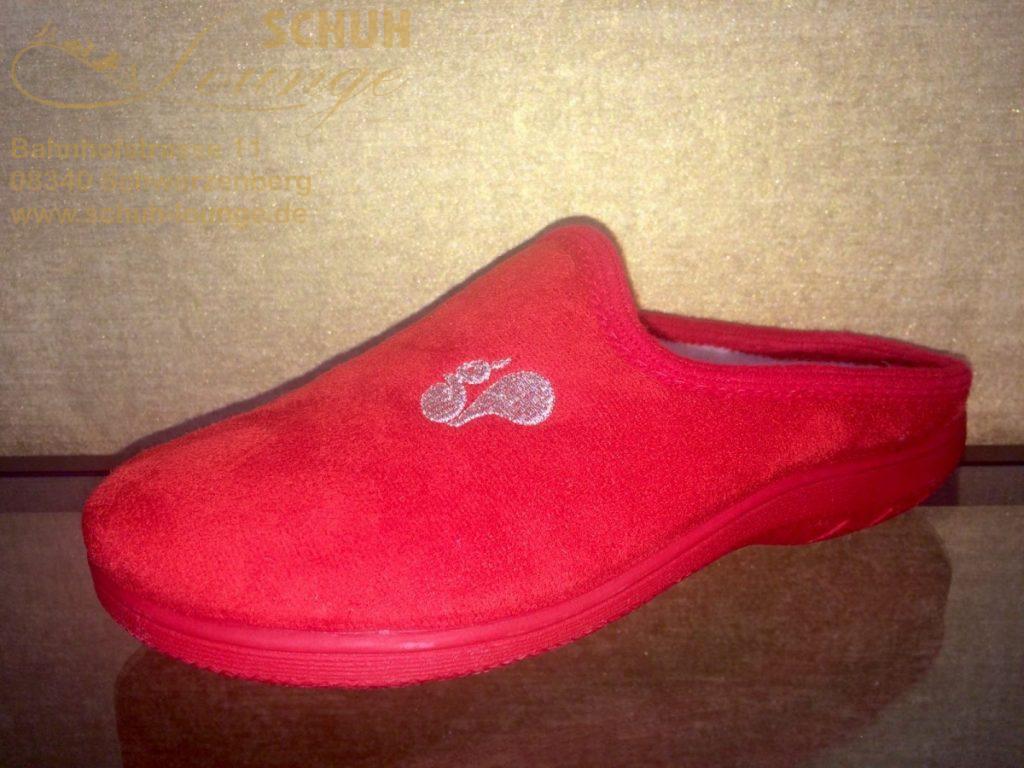 Pantoffel für Damen in rot aus dem Hause Eichhorn