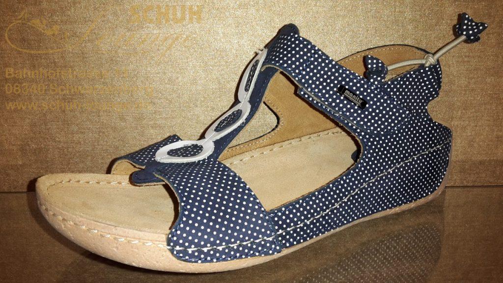 Sandale in dunkelblau/weiß von Manitu