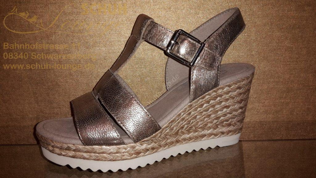 Damen Sandale in Metalloptik aus dem Hause Gabor