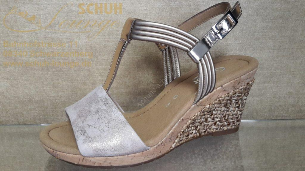 Extravagante Sandalette mit Keilplateau von Gabor