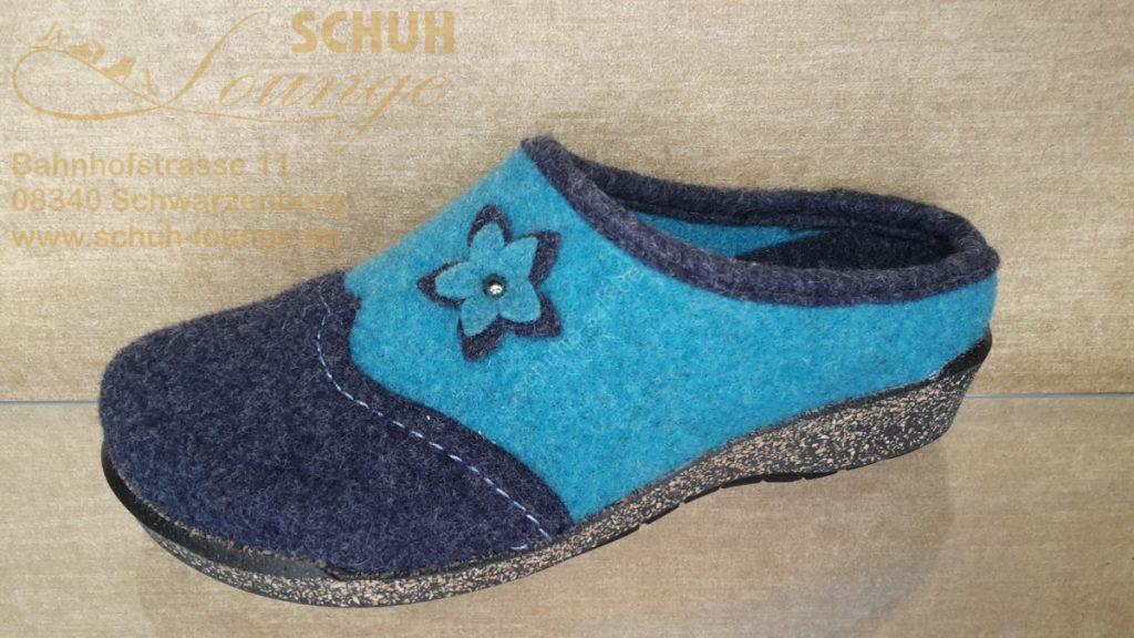 Filzpantoffel für Damen in der Farbe blau