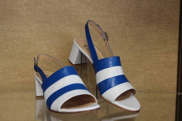 Nubukleder Sandale mit geschlossener Ferse von Gabor blauweis Schuhe Schwarzenberg