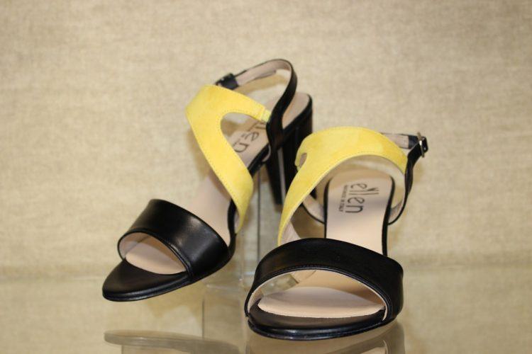 Nubukleder Sandale mit geschlossener Ferse von Gabor gelb Schuhe Schwarzenberg